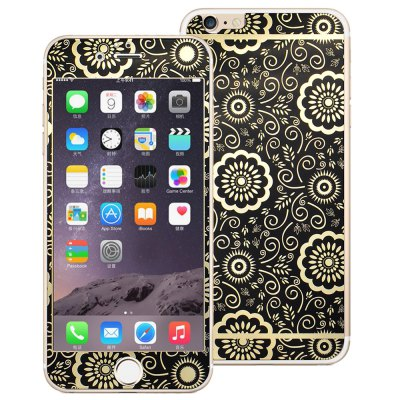 Angibabe Electroplated Tempered Glass Screen Film Back Protector for iPhone 6 Plus / 6S Plus