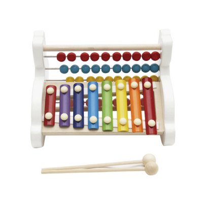 8 Notes Hand Struck Rabbit Xylophone Abacus Frame Toy