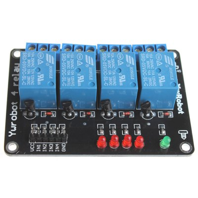 4 Channel SongLe Relay Module Microcontroller Development Board