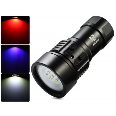 Akuana VJ4000 4000LM 9 x CREE XM - L2 U4 LED Dive Light