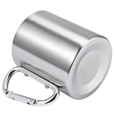 220ML Stainless Steel Coffee Cup with Handle Carabiner Hook
