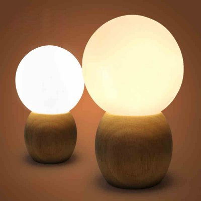 Wooden Ball LED Table Lamp Ambient Light