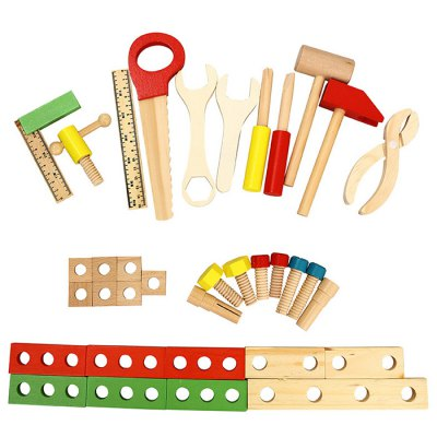 DIY Wooden Toolbox Multifunctional Simulation Repair Tool Toy for Play House Game Kid GiftOther Educational Toys<br>DIY Wooden Toolbox Multifunctional Simulation Repair Tool Toy for Play House Game Kid Gift<br><br>Age: 3 Years+<br>Applicable gender: Unisex<br>Design Style: Instrument<br>Features: Educational<br>Material: Wood<br>Package Contents: 1 x Toolbox Toy<br>Package size (L x W x H): 35.00 x 25.00 x 10.00 cm / 13.78 x 9.84 x 3.94 inches<br>Package weight: 1.157 kg<br>Puzzle Style: Other<br>Small Parts : Yes<br>Type: Intelligence toys<br>Washing: No