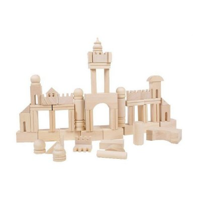 DIY Wooden Building Block 65Pcs Kid Puzzle Game Assemble Toy Early Education Tool anne klein 2836 jade
