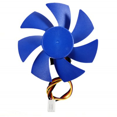 Plastic Computer CPU Card Cooling Fan Leaves Video Heat Sink