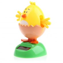 Solar Shaking Chick with Eggshell Environment-friendly Ornamentation