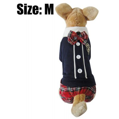 Lovely Bowknot England Style Puppy Cotton Coat