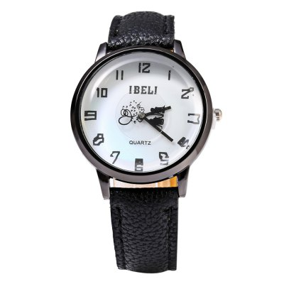 IBELI 808 Lover Pattern Second Dial Female Quartz Watch Leather BandWomens Watches<br>IBELI 808 Lover Pattern Second Dial Female Quartz Watch Leather Band<br><br>Brand: IBELI<br>Watches categories: Female table<br>Watch style: Casual,Fashion<br>Available color: Black,Brown,Red,Rose,White<br>Movement type: Quartz watch<br>Shape of the dial: Round<br>Display type: Analog<br>Case material: Stainless Steel<br>Band material: Leather<br>Clasp type: Pin buckle<br>Dial size: 3.5 x 3.5 x 1.1 cm / 1.38 x 1.38 x 0.43 inches<br>Band size: 23.7 x 1.7 cm / 9.33 x 0.67 inches<br>Wearable length: 17.5 - 21.8 cm / 6.89 - 8.58 inches<br>Product weight: 0.032 kg<br>Package weight: 0.062 kg<br>Product size (L x W x H): 23.70 x 4.00 x 1.10 cm / 9.33 x 1.57 x 0.43 inches<br>Package size (L x W x H): 24.70 x 5.00 x 2.10 cm / 9.72 x 1.97 x 0.83 inches<br>Package Contents: 1 x IBELI Female Watch