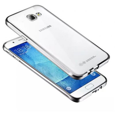 ASLING TPU Soft Protective Case for Samsung Galaxy A9 Electroplated Frame