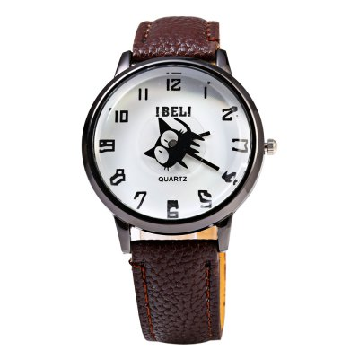 IBELI 802 Black Cat Second Dial Female Quartz Watch Leather BandWomens Watches<br>IBELI 802 Black Cat Second Dial Female Quartz Watch Leather Band<br><br>Brand: IBELI<br>Watches categories: Female table<br>Watch style: Business,Casual,Fashion<br>Available color: Black,Brown,Red,Rose,White<br>Movement type: Quartz watch<br>Shape of the dial: Round<br>Display type: Analog<br>Case material: Stainless Steel<br>Band material: Leather<br>Clasp type: Pin buckle<br>Dial size: 3.5 x 3.5 x 1.1 cm / 1.38 x 1.38 x 0.43 inches<br>Band size: 23.7 x 1.7 cm / 9.33 x 0.67 inches<br>Wearable length: 17.5 - 21.8 cm / 6.89 - 8.58 inches<br>Product weight: 0.032 kg<br>Package weight: 0.062 kg<br>Product size (L x W x H): 23.70 x 4.00 x 1.10 cm / 9.33 x 1.57 x 0.43 inches<br>Package size (L x W x H): 24.70 x 5.00 x 2.10 cm / 9.72 x 1.97 x 0.83 inches<br>Package Contents: 1 x IBELI Female Watch