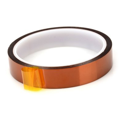 18mm High Temperature Resistant Kapton Tape3D Printer Supplies<br>18mm High Temperature Resistant Kapton Tape<br><br>Material: Polyimide<br>Diameter: 9.3cm<br>Length: 30m<br>Color: Brown<br>Special features: Heat Resistant<br>Function: High Temperature Adhesive Tape<br>Product weight: 0.042 kg<br>Package weight: 0.058 kg<br>Product size: 9.30 x 9.30 x 1.80 cm / 3.66 x 3.66 x 0.71 inches<br>Package size: 10.30 x 10.30 x 2.80 cm / 4.06 x 4.06 x 1.10 inches<br>Package Contents: 1 x High Temperature Resistant Kapton Polyimide Tape