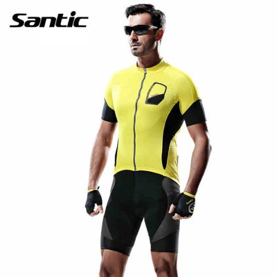 Santic M5C02074Y Male Summer Cycling Short Sleeves