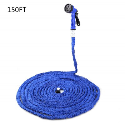 150FT Expandable Garden Water Hose with 7 Modes Spray Gun