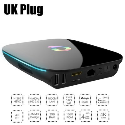 Sunvell Q-Streaming Box TV Streaming Box Android 1000M LAN