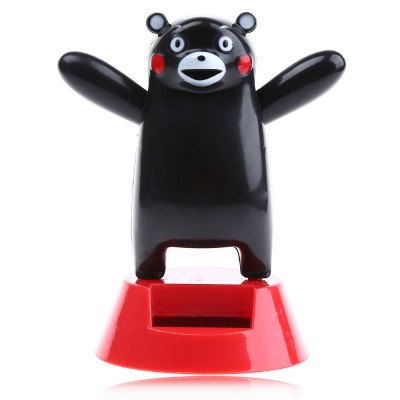 Solar Shaking Black Bear Environment-friendly OrnamentationSolar Powered Toys<br>Solar Shaking Black Bear Environment-friendly Ornamentation<br><br>Age: Above 3 Years<br>Material: ABS<br>Package Contents: 1 x Solar Shaking Black Bear<br>Package size (L x W x H): 14.00 x 11.00 x 6.00 cm / 5.51 x 4.33 x 2.36 inches<br>Package weight: 0.107 kg<br>Type: Solar Toy