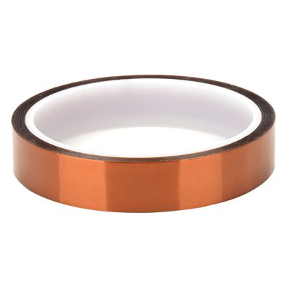 18mm High Temperature Resistant Kapton Tape3D Printer Supplies<br>18mm High Temperature Resistant Kapton Tape<br><br>Color: Brown<br>Diameter: 9.3cm<br>Function: High Temperature Adhesive Tape<br>Length: 30m<br>Material: Polyimide<br>Package Contents: 1 x High Temperature Resistant Kapton Polyimide Tape<br>Package size: 10.30 x 10.30 x 2.80 cm / 4.06 x 4.06 x 1.1 inches<br>Package weight: 0.0580 kg<br>Product size: 9.30 x 9.30 x 1.80 cm / 3.66 x 3.66 x 0.71 inches<br>Product weight: 0.0420 kg<br>Special features: Heat Resistant