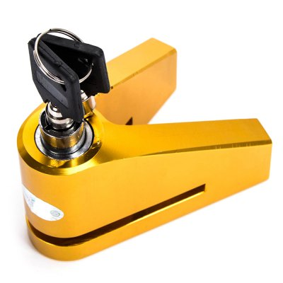 CS1765 Motorcycle Bike LockOther  Motorcycle Accessories<br>CS1765 Motorcycle Bike Lock<br><br>Accessories type: Disk brake lock<br>Avaliable Color : Black,Blue,Gold,Orange,Red,Silver<br>Applicable Motorcycle Brand: Universal<br>Product weight: 0.281 kg<br>Package weight: 0.359 kg<br>Product size (L x W x H): 8.80 x 6.20 x 5.50 cm / 3.46 x 2.44 x 2.17 inches<br>Package size (L x W x H): 20.50 x 15.00 x 7.70 cm / 8.07 x 5.91 x 3.03 inches<br>Package Contents: 1 x Lock, 2 x Key