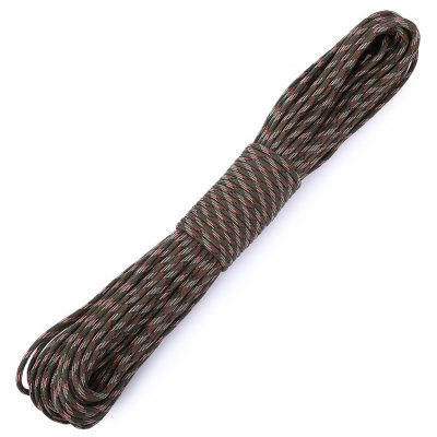 30M Nylon Braided Cord Military Survival Parachute Rope (Camouflage)