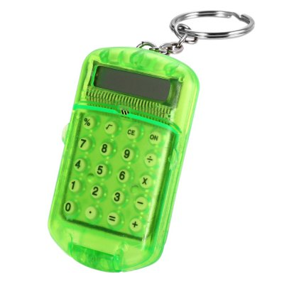 1PC Mini Pocket Flip Calculator with KeychainOther Supplies<br>1PC Mini Pocket Flip Calculator with Keychain<br><br>Type: Button,Pocket<br>Multi-Function: Calculator<br>Material: Plastic<br>Color: Blue,Green,Pink<br>Product weight: 0.017 kg<br>Package weight: 0.038 kg<br>Product size (L x W x H): 6.00 x 3.50 x 0.80 cm / 2.36 x 1.38 x 0.31 inches<br>Package size (L x W x H): 7.00 x 4.50 x 1.80 cm / 2.76 x 1.77 x 0.71 inches<br>Package Contents: 1 x Mini Pocket Flip Calculator