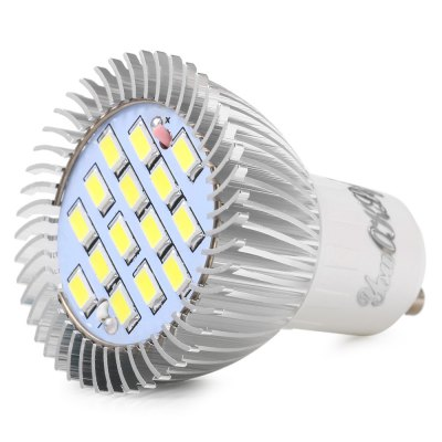 5PCS YouOKLight 7.5W SMD 5630 GU10 700Lm LED SpotlightSpot Bulbs<br>5PCS YouOKLight 7.5W SMD 5630 GU10 700Lm LED Spotlight<br><br>Angle: 180 degree<br>Available Light Color: Warm White,White<br>Brand: YouOKLight<br>CCT/Wavelength: 3000K,6000K<br>Emitter Types: SMD 5630<br>Features: Low Power Consumption, Long Life Expectancy<br>Function: Studio and Exhibition Lighting, Home Lighting, Commercial Lighting<br>Holder: GU10<br>Luminous Flux: 700LM<br>Output Power: 7.5W<br>Package Contents: 5 x YouOKLight LED Spotlight<br>Package size (L x W x H): 7.00 x 15.00 x 10.00 cm / 2.76 x 5.91 x 3.94 inches<br>Package weight: 0.300 kg<br>Product size (L x W x H): 5.80 x 5.00 x 5.00 cm / 2.28 x 1.97 x 1.97 inches<br>Product weight: 0.041 kg<br>Sheathing Material: Aluminum Alloy<br>Total Emitters: 15<br>Type: Spot Bulbs<br>Voltage (V): 85-265V