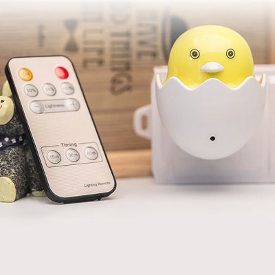 Yellow Duck Shape Remote Control LED Night Light