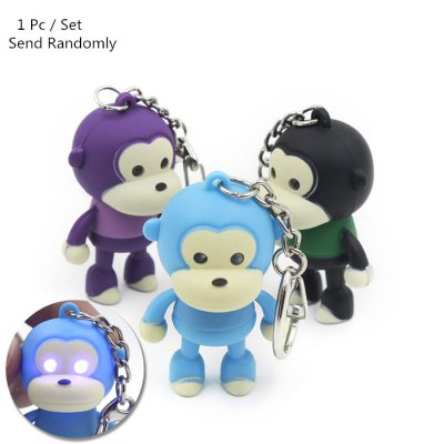 ABS Monkey Style Key Chain with Light / Sound Hanging Pendant