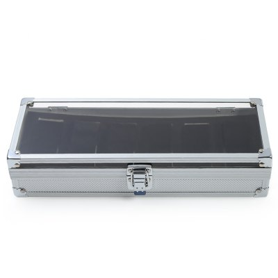 6 Grids Stainless Steel Watch Case