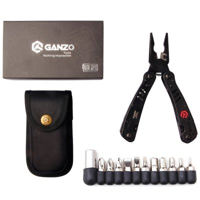 Multi - Purpose Ganzo G302B Multi Tool Pliers with Screwdriver Kit for Outdoor Camping Hiking Household etc.