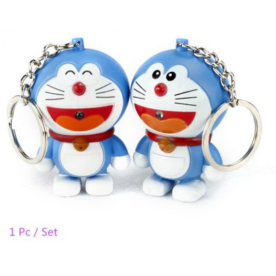 ABS Cat Style Key Chain with Light / Sound Hanging Pendant