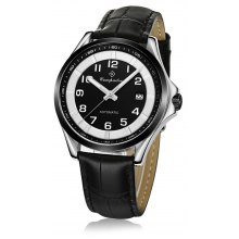 Compadre 8004 Leather Band Date Men Automatic Mechanical Watch