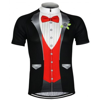 Arsuxeo ZSS511 Men T-shirt with Business Suit Pattern
