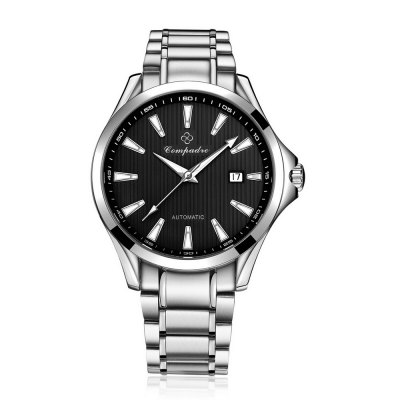 Compadre 8001 Stainless Band Date Men Automatic Mechanical WatchMechanical Watches<br>Compadre 8001 Stainless Band Date Men Automatic Mechanical Watch<br><br>Brand: Compadre<br>Watches categories: Male table<br>Watch style: Business<br>Available color: Black,Blue,Brown,Gold,Silver<br>Movement type: Automatic mechanical watch<br>Shape of the dial: Round<br>Display type: Analog<br>Case material: Stainless Steel<br>Band material: Stainless Steel<br>Clasp type: Folding clasp with safety<br>Special features: Date,Luminous<br>Water resistance : 50 meters<br>Dial size: 4.10 cm / 1.61 inches<br>Band size: 2 cm / 0.79 inches<br>Wearable length: 23.00 cm / 9.06 inches<br>Product weight: 0.155 kg<br>Package weight: 0.185 kg<br>Product size (L x W x H): 23.00 x 4.10 x 1.00 cm / 9.06 x 1.61 x 0.39 inches<br>Package size (L x W x H): 24.00 x 5.10 x 2.00 cm / 9.45 x 2.01 x 0.79 inches<br>Package Contents: 1 x Men Watch