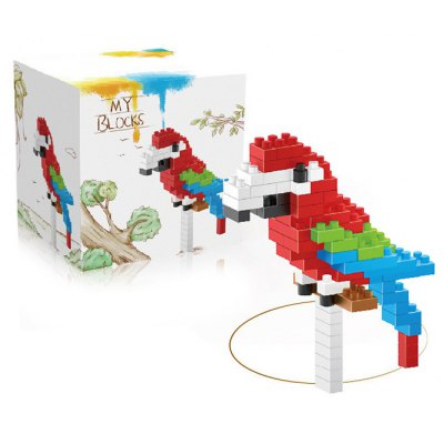 94Pcs Parrot Shape Building Block Educational Decoration Toy for Spatial Thinking