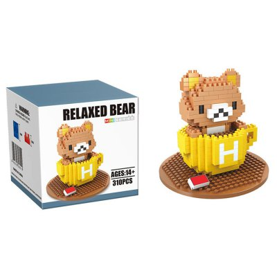310Pcs Bear Style Building Block Educational Decoration Toy for Spatial Thinking