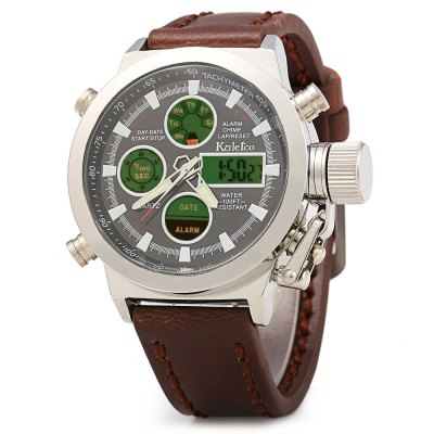 Kaletco 399A LED Dual Movt Multi-function Male Sport Watch