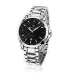 Compadre 8003 Men Automatic Mechanical Watch Date Stainless Steel Band