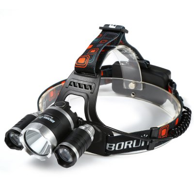 Boruit LT - 069 XML T6 LED 5000Lm 4 Modes Headlight + 18650 Batteries + Car Charger + AC Power