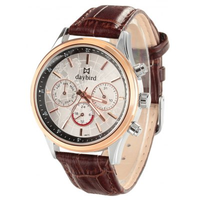 Daybird 3875 Men Quartz Watch Business Leather Band
