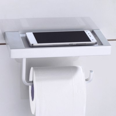 2 in 1 Wall Mounted Toilet Paper Container Gadgets Storage Rack