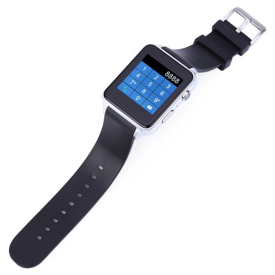 KingWear GT88 Smartwatch PhoneSmart Watch Phone<br>KingWear GT88 Smartwatch Phone<br><br>Additional Features: Calendar, Sound Recorder, People, Calculator..., Bluetooth<br>Battery: 1 x 300mAh<br>Bluetooth: Yes<br>Bluetooth Version: V4.0<br>Brand: KingWear<br>Camera type: Single camera<br>Cell Phone: 1<br>Charging Cable: 1<br>CPU: MTK2502<br>English Manual : 1<br>External Memory: TF card up to 16GB (not included)<br>Frequency: GSM850/900/1800/1900MHz<br>Front camera: 0.3MP<br>Functions: Anti-lost alert, Heart rate measurement, Message, Pedometer, Remote Camera, Sedentary reminder, Sleep monitoring<br>Languages: English, French, Spanish, Portuguese, Italian, Dutch, Russian, Turkish, German, Polish<br>Music format: WAV, MP3<br>Network type: GSM<br>Package size: 9.50 x 8.50 x 6.90 cm / 3.74 x 3.35 x 2.72 inches<br>Package weight: 0.1980 kg<br>Picture format: GIF, BMP, JPEG<br>Product size: 5.50 x 4.00 x 1.30 cm / 2.17 x 1.57 x 0.51 inches<br>Product weight: 0.0700 kg<br>RAM: 64MB<br>ROM: 128MB<br>Screen resolution: 240 x 240<br>Screen size: 1.54 inch<br>Screen type: Capacitive<br>Screwdriver: 1<br>SIM Card Slot: Single SIM(Micro SIM slot)<br>TF card slot: Yes<br>Type: Watch Phone<br>Video recording: Yes<br>Wireless Connectivity: Bluetooth 4.0, GSM