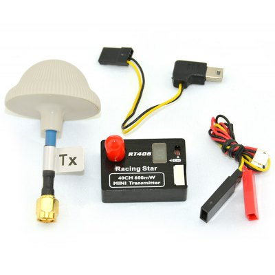 Racing Star 5.8G 40CH 600mW Wireless Transmitter + Antenna / Cable Set for RT406 Multicopter DIY