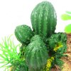 Simulation Rockery with Cactus Fish Tank Decors for sale