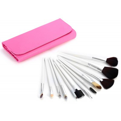 12PCS Synthetic Hair Makeup Brushes with Dull Polish Storage Bag