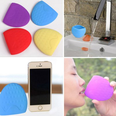 Cute Silicone Tooth Mug Collapsible Home Travel Cups