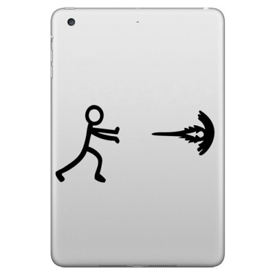 Hat-Prince Removable Decorative Skin Sticker for iPad Mini with Kid Pushing Design