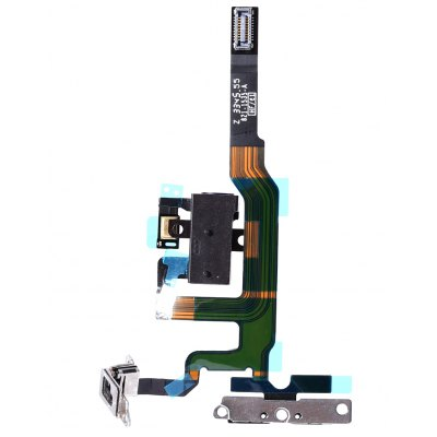 Volume Button Connector Flex Cable with Metal Bracket for iPhone 4S