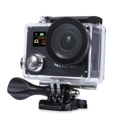 H8R 170 Degree Wide Angle 4K Ultra HD WiFi Action CameraAction Cameras<br>H8R 170 Degree Wide Angle 4K Ultra HD WiFi Action Camera<br><br>Model: H8R<br>Type: Sports Camera<br>Chipset Name: Sunplus<br>Chipset: Sunplus 6350<br>Max External Card Supported: TF 32G (not included)<br>Class Rating Requirements: Class 10 or Above<br>Screen size: 2.0inch<br>Screen type: LCD<br>Battery Type: Removable<br>Capacity: 1050mAh<br>Charge way: USB charge by PC<br>Working Time: 1.5 hours at 1080P 30fps, 50min at 4K 30fps / 2.7K 30fps / 1080P 60fps<br>Wide Angle: 170 degree wide angle<br>Camera Pixel : 12MP<br>Decode Format: H.264<br>Video format: MOV<br>Video Resolution: 1080P(30fps),1080P(60fps),2.7K (2704 x 1524),4K (30fps)<br>Video System: PAL<br>Video Output : HDMI<br>Image Format : JPG<br>Audio System: Built-in microphone/speaker (AAC)<br>Exposure Compensation: +0.3,+0.7,+1,+1.3,+1.7,+2,-0.3,-0.7,-1,-1.3,-1.7,-2,0<br>WIFI: Yes<br>WiFi Function: Image Transmission,Sync and Sharing Albums<br>WiFi Distance : 30m<br>Waterproof: Yes<br>Water Resistant: 30m<br>Loop-cycle Recording : Yes<br>Loop-cycle Recording Time: 10min,OFF<br>HDMI Output: Yes<br>USB Function: USB-Disk<br>Time Stamp: Yes<br>Interface Type: Micro HDMI,Micro USB,TF Card Slot<br>Language: Czech,Deutsch,Dutch,English,French,Italian,Japanese,Korean,Polski,Portuguese,Russian,Spanish,Thai,Traditional Chinese,Turkish<br>Frequency: 50Hz,60Hz,Auto<br>Product weight: 0.069 kg<br>Package weight: 0.618 kg<br>Product size (L x W x H): 5.80 x 4.00 x 2.00 cm / 2.28 x 1.57 x 0.79 inches<br>Package size (L x W x H): 28.50 x 18.00 x 8.00 cm / 11.22 x 7.09 x 3.15 inches<br>Package Contents: 1 x H8R 4K Action Camera + Waterproof Housing Case + Base + Long Screw, 1 x 1050mAh Battery, 1 x 2.4G Remote Controller, 1 x Wrist Strap for RC, 1 x Power Adapter (100 - 240V), 1 x USB Cable, 1 x Fram