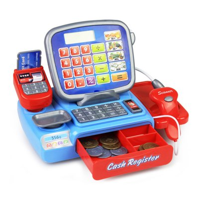 Cash Register with Calculator Early Education Toy