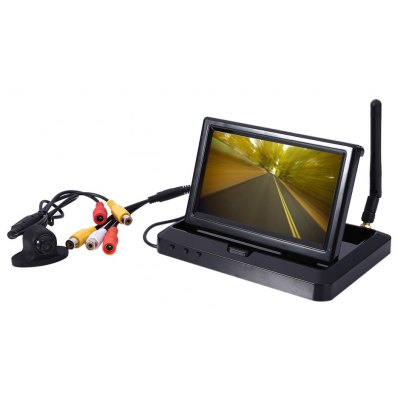 K20 DC 12V 170 Degree Car Rearview Camera 5.0 inch Wireless Monitor
