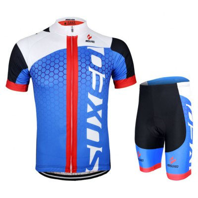 Arsuxeo ZSS52 Men Breathable Cycling Short Sleeve Suit